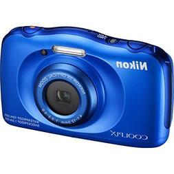 Nikon COOLPIX S33 13.2MP Waterproof Digital Camera - Blue