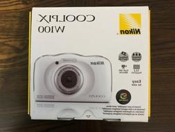 Nikon Coolpix W100 13.2MP Waterproof 33ft Camera, White Full