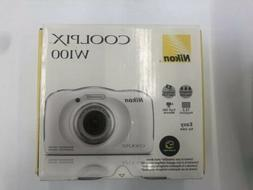 Nikon Coolpix W100 13.2MP Waterproof Camera - WHITE - 018208