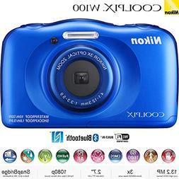Nikon COOLPIX W100 13.2MP Waterproof Digital Camera 3X Zoom,