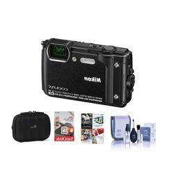 Nikon Coolpix W300 Point & Shoot Camera, Black - Bundle with
