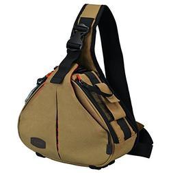 CADeN Camera Sling Bag Sling Backpack Men Women with Rain Co