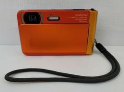 Sony Cyber Shot DSC TX30 18.2MP Digital Camera Orange Waterp