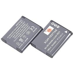DSTE 2x D-Li88 Replacement Li-ion Battery for Pentax Optio H