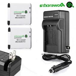 2x D-LI92 Battery + Charger for Pentax Optio RZ-18 WG-1 WG-2