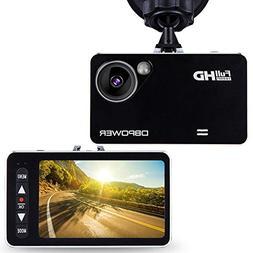 """DBPOWER 2.7"""" HD Dash Cam, Car DVR Camcorder Dashboard Camera"""