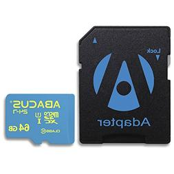 Abacus24-7 64GB microSD Memory Card with SD Adapter for Acti