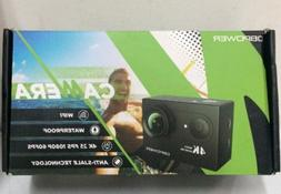 DBPOWER 4K Action Camera Waterproof with Accessories Black