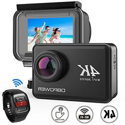 """DBPOWER D5 Native 4K EIS Action Camera 2"""" LCD Touchscreen 14"""