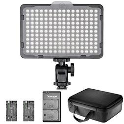 Neewer Dimmable 176 LED Video Light Lighting Kit: 176 LED Pa