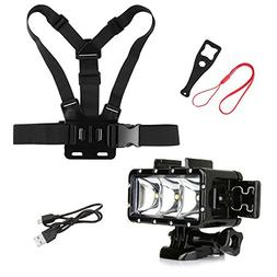 SHOOT Outdoor Diving Light Accessories Kit for GoPro Hero 6/