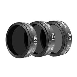 Neewer DJI Mavic Air Lens Filter Kit - 3 Pieces Pro Neutral