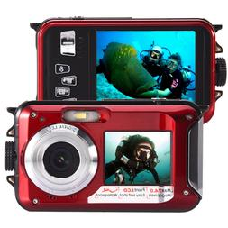 Double Screen Digital Video Camera Waterproof Sports Diving