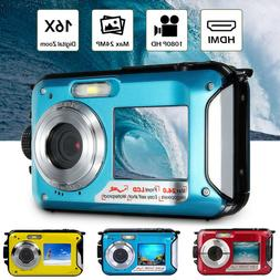 Double Screen Underwater Camera Sports Diving Digital Video