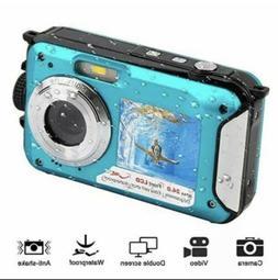PowerLead Double Screens Waterproof Digital Camera 2.7-Inch