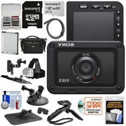 Sony DSC-RX0 II 4K Shock & Waterproof Video Camera Bundle