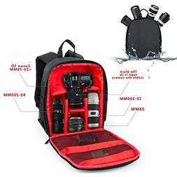DSLR Camera Bag Waterproof Camera Backpack for DSLR Cameras,