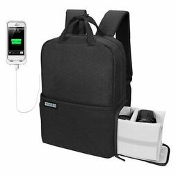 CADeN Travel DSLR/SLR Camera Backpack with USB Charging Port