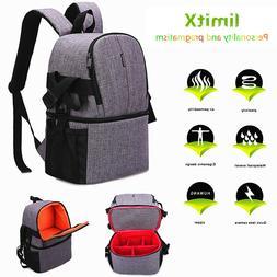 DSLR SLR Camera Case Backpack Photo Bag Shockproof Waterproo