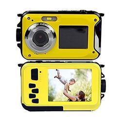 Dual Screens Waterproof Digital Camera with 2.7 Inch LCD Dis