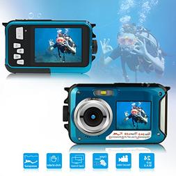 24MP Dual Screen Waterproof Point and Shoot Digital Cameras