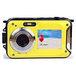 Dual-screen Camera,KINGEAR 24 MP Front And Rear Life Waterpr