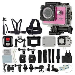 4K HD DV 16MP Sports Action Camera  - Wi-Fi + Wrist RF + 170