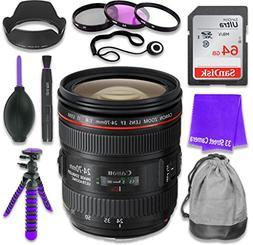 Canon EF 24–70mm f/4L IS USM Lens for Canon DSLR Cameras &