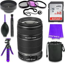 Canon EF-S 55–250mm f/4–5.6 is II Lens for Canon DSLR Ca