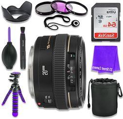 Canon EF 50mm f/1.4 USM Lens for Canon DSLR Cameras & SanDis