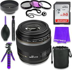 Canon EF-S 60mm f/2.8 Macro USM Lens for Canon DSLR Cameras