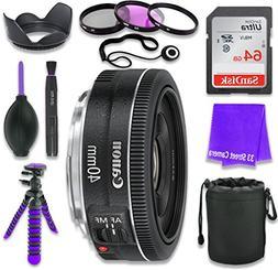 Canon EF 40mm f/2.8 STM Lens for Canon DSLR Cameras & SanDis