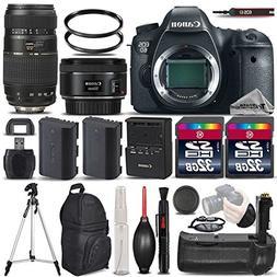 Canon EOS 6D DSLR Camera + Canon EF 50mm 1.8 II Lens + Tamro