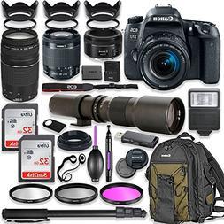 Canon EOS 77D DSLR Camera with 18-55mm Lens Bundle + Canon E