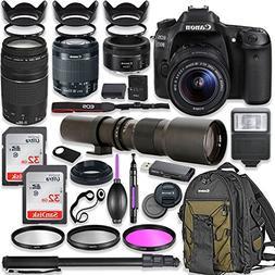 Canon EOS 80D DSLR Camera w/ 18-55mm Lens Bundle + Canon 75-