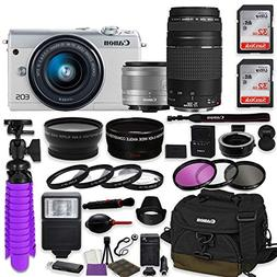 Canon EOS M100 Mirrorless Digital Camera  Bundle w/Canon EF-