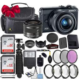 Canon EOS M100 24.2MP Mirrorless Digital Camera  + EF-M 15-4