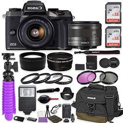 Canon EOS M5 Mirrorless Digital Camera  Premium Accessory Bu