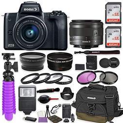 Canon EOS M50 Mirrorless Digital Camera  Premium Accessory B