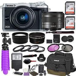 Canon EOS M6 Mirrorless Digital Camera  Premium Accessory Bu