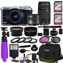 Canon EOS M6 Mirrorless Digital Camera  Bundle w/Canon EF-M