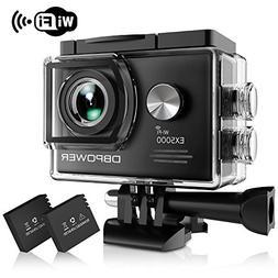 DBPOWER EX5000 Action Camera, 14MP 1080P HD WiFi Waterproof