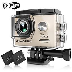 DBPOWER EX5000 Action Camera , 14MP 1080P HD WiFi Waterproof