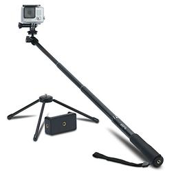 Extendable Selfie Stick Monopod + Universal Tripod Stand for