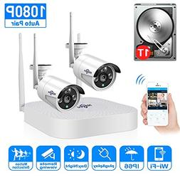 2CH 960P HD Video Wireless Security Camera System,HisEEu Ext