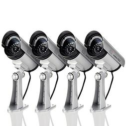 Megach Fake Surveillance Cameras 4 Pack Outdoor/Indoor Water