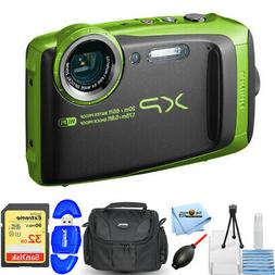 Fujifilm FinePix XP120 16.4MP Digital Camera Lime Full-HD Wi