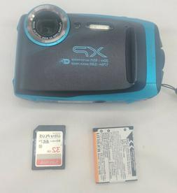 Fujifilm FinePix XP130 16.4 MP Waterproof Digital Camera Blu