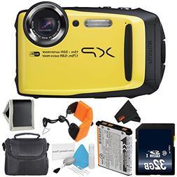 Fujifilm FinePix XP90 Yellow Waterproof Digital Camera Bundl