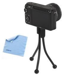 BIRUGEAR Flexible Mini Tripod Stand - Black for Nikon Coolpi